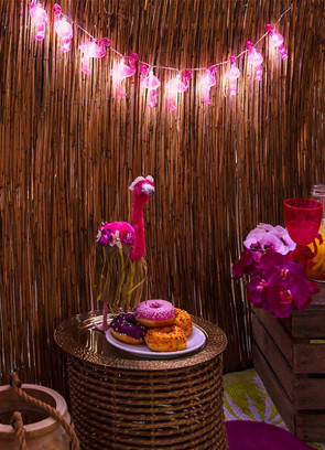 Tropical Pink Flamingo LED String Lights - 10 LED Lights 1.4m
