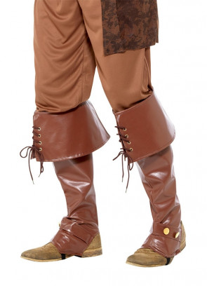 Deluxe Pirate Boot covers - Brown