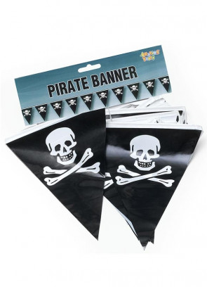 Pirate Skull and Crossbones Bunting 7m (25 flags)