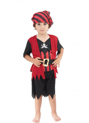 Red and Black Striped Pirate