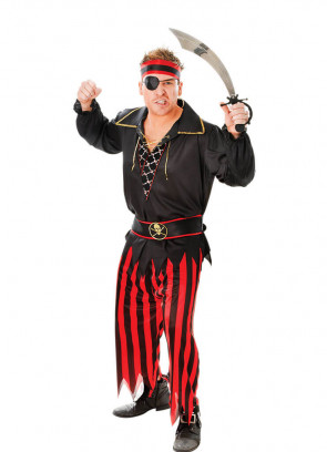 Pirate Mate Costume - Striped Trousers