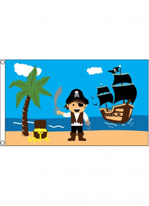 Pirate Treasure Beach Flag
