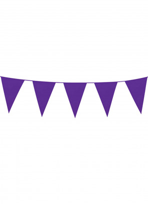 Large Purple Triangular Plastic Bunting 10m
