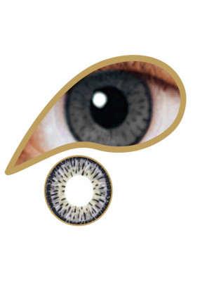 Platinum Grey Coloured Contact Lenses - 30 Day Wear