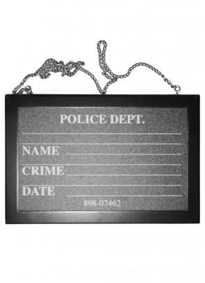 Police Dept Mugshot Chalkboard