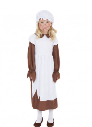 Poor Victorian - Brown - Girls Costume