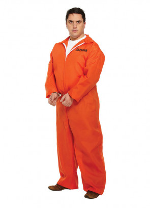 Prisoner Overalls (Orange) Costume XL