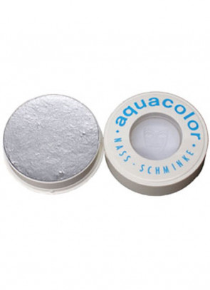 Kryolan Professional Stage Makeup Aquacolor Metallic Silver Face Paint 30ml