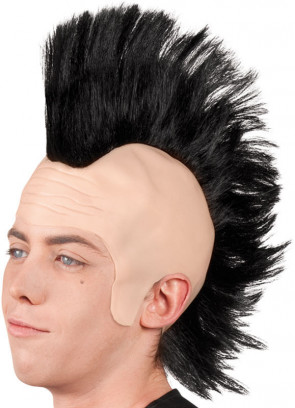 Punk Mohican Wig (Black)