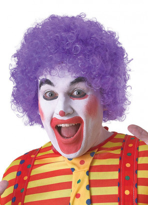 Purple Clown Afro Pop Wig