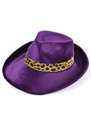 Purple Fedora Pimp Hat