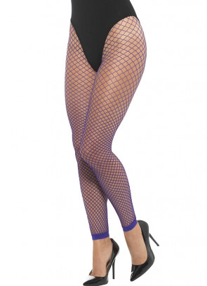 Fishnet Footless Tights – Purple 6-18