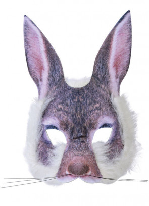 Bunny Rabbit Mask (Realistic Fur)