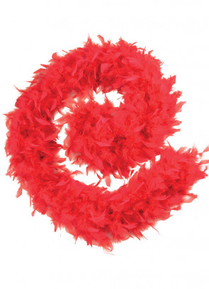 Feather Boa Red 80g - 182cm