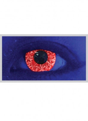 Rizzy Red Glitter UV Contact Lenses - 30 Day Wear