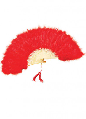 Red Feather Fan