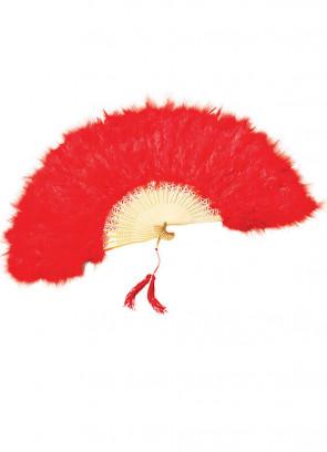 Red Feather Fan