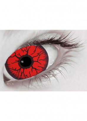Red Rage Mini Sclera Contact Lenses (17mm) - 30 Day Wear