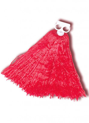 Small Red Pom Poms 2pcs