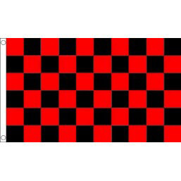 Red & Black Checkered Flag 5x3