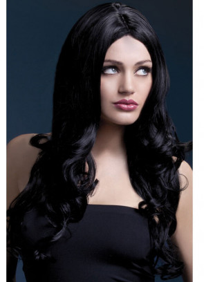 Deluxe Rhianne Long Curly Wig - Black - Styleable