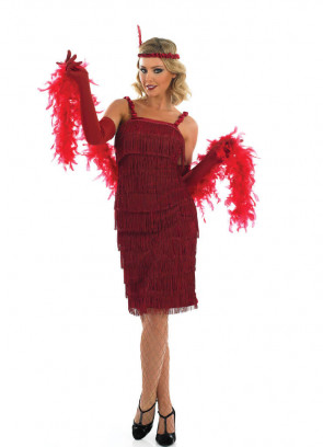 Roaring 20's Flapper (Red) Costume