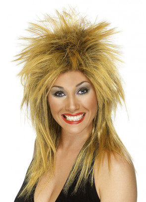 Rock Diva Wig - Ginger Tina Turner