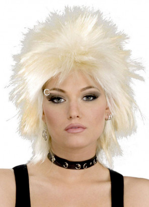 80's Rock Idol Blonde Wig