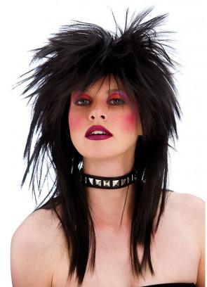 80s Rocker Wig - Black