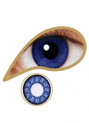 Royal Blue Coloured Contact Lenses - 30 Day Wear