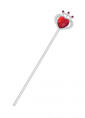 Storybook Royalty Wand - Red Heart Stone