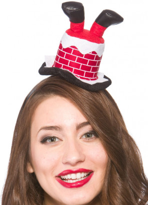 Santa Chimney Mini Hat - Headband