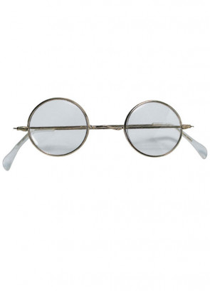 Glasses Santa - Gold Rim With Glass