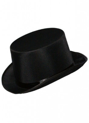Black Satin Top Hat - Showman
