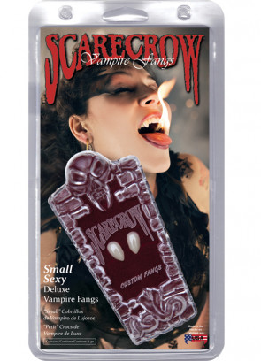 Scarecrow Small Vampire Fangs in Coffin Box