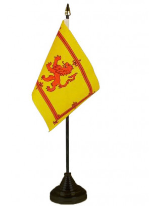 Scotland - Lion Crest - Table Flag