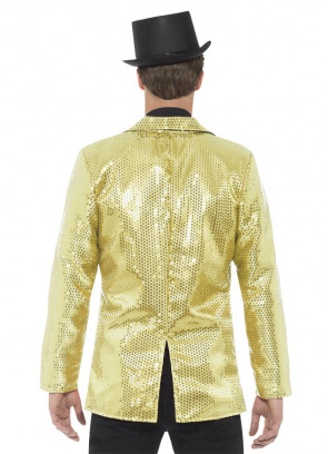 Sequin Jacket - Gold - Male
