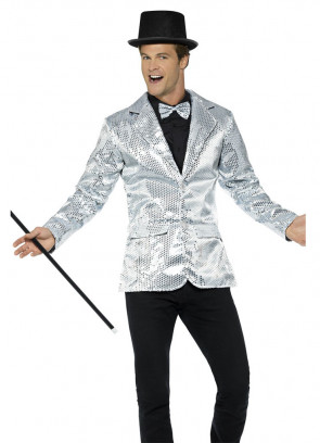 Sequin Jacket - Silver -Male