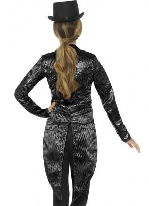 Sequin Tailcoat - Black - Ladies