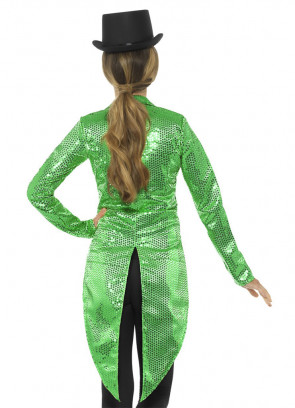 Sequin Tailcoat - Green -Ladies