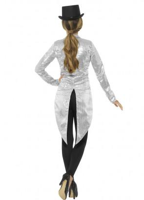 Sequin Tailcoat - Silver -Ladies