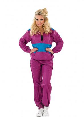 Purple Shell-Suit - 80s Costume