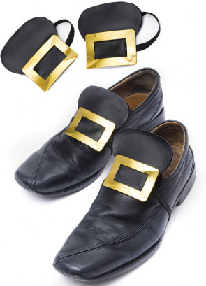 Gold Metal Shoe Buckles - Witch - Royalty