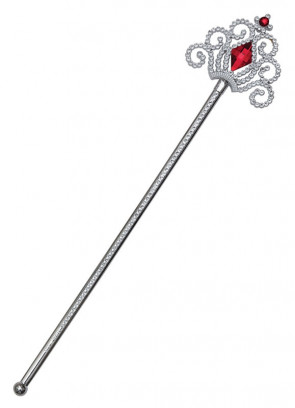 Silver Wand - Red Stone