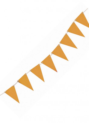 Gold Glitter Banner Bunting 8ft Long