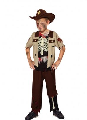 Zombie Skeleton Sheriff - Walkin-Deadly