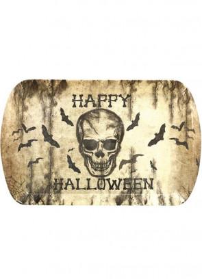 Skull & Bats Happy Halloween - Sturdy Drinks Tray 24cm x 39cm