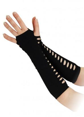 Punk Slashed Gloves (Black)