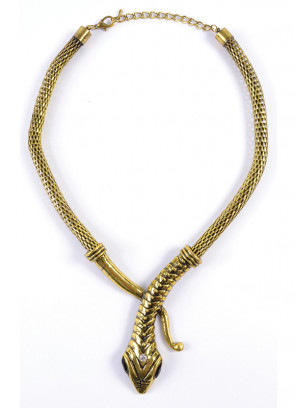 Cleopatra Asp Snake Necklace