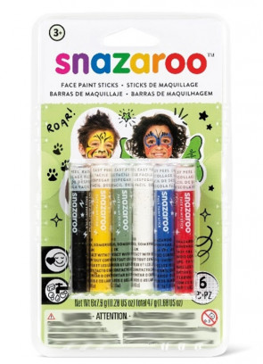 Snazaroo Rainbow Face Painting Sticks – 6 Pack